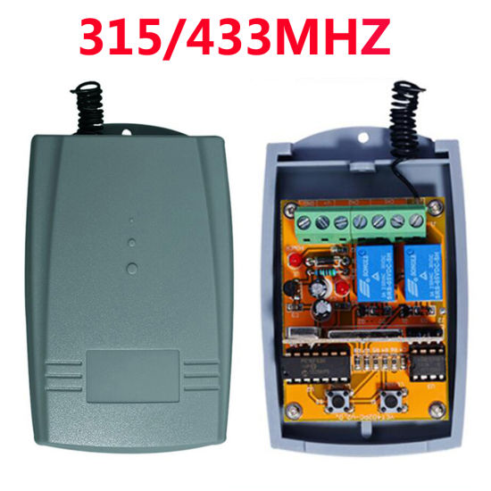 Universal 2 Channel 12 - 24V AC/Dcwireless Rolling Code Receiver for Gate Automation Door