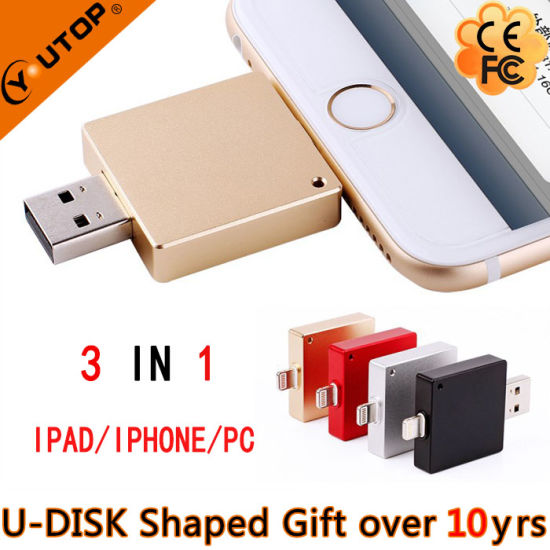 Promotional Gift OTG USB Flash Drives USB3.0 for iPhone Android pictures & photos