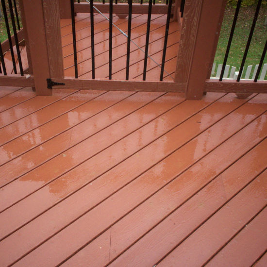 China Weather Resistance Wood Batten WPC Outdoor Decking Floor ...