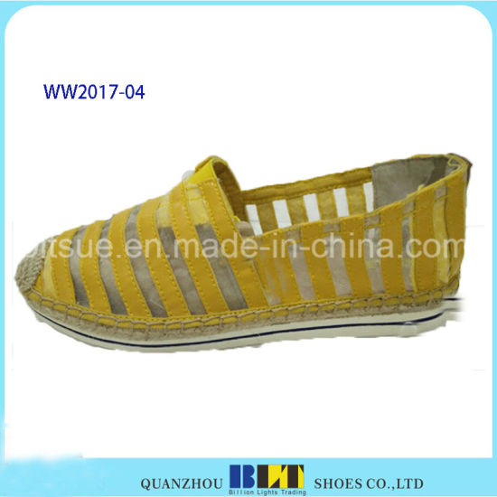 High Quality Lace Materials Causal Shoes with Hemp Rope pictures & photos