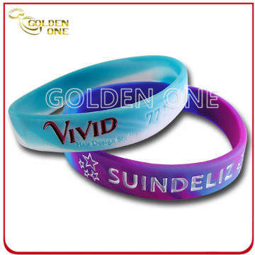 Personalized High Quality Concave Logo Silicon Bracelet pictures & photos