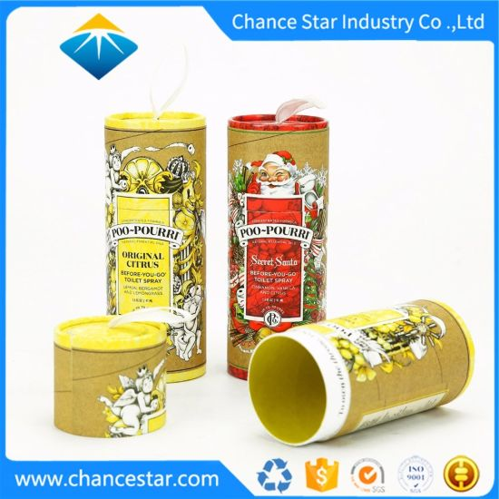Custom Laminated Christmas Gift Package Cardboard Cylinder Box