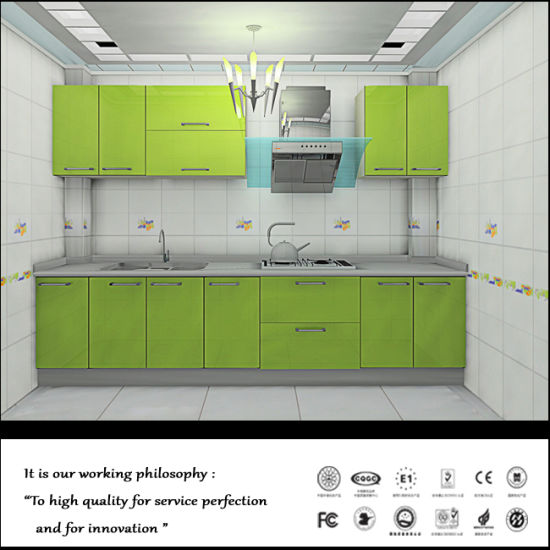 China Laquer Green Colour Kitchen Furniture Fy8769 China Kitchen