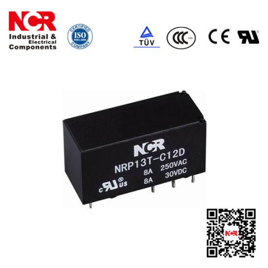 6V 8A Mini PCB Relay/Electric Relay 12V 8A (NRP13T)