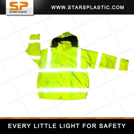 RV-A73-560 Workwear Work Jacket Fluorescent Yellow Waterproof Raincoat Reflective Safety Vest