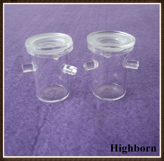 Clear Melting Silica Quartz Glass Crucibles with Three Supports pictures & photos
