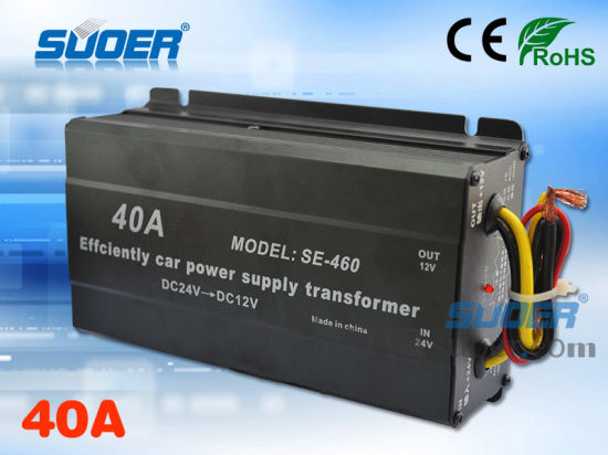 Electric Power Transformer 24V to 12V Car Power Transformer (SE-460)