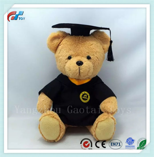 OEM Design Plush Graduation Bear Stuffed Bear Toy for Kids with Graduation Gown and Cap