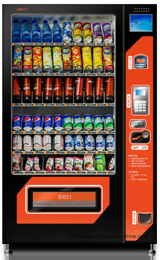 "Large Snack & Drink Combo Vending Machine with 8""LCD Ad-Screen pictures & photos"