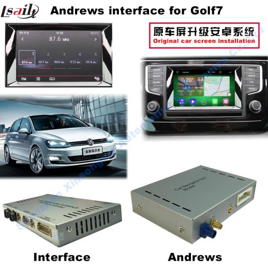 VW Mib2 Multimedia Video Interface with /Rear Camera/Car DVD/Android  Navigation