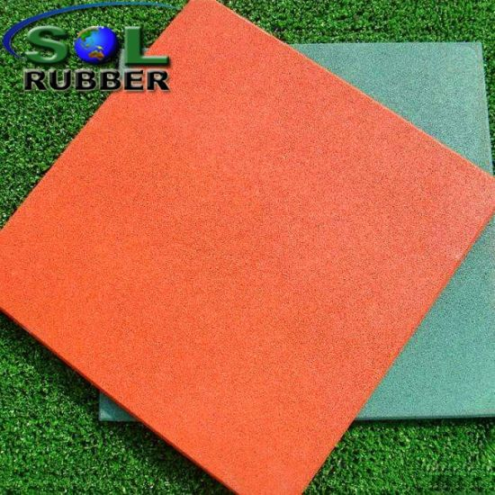 Anti UV Outdoor Playground Paint Rubber Flooring Tiles pictures & photos
