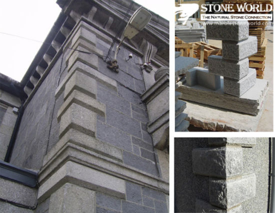 Granite Construction Stone / Wall Capping For Outside Project   Cc21