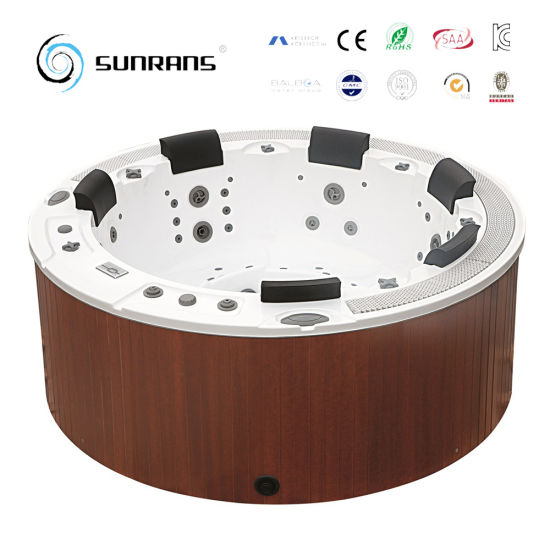 china round outdoor spa tub with pvc skirt and pillow round spa china round hot tub round spa. Black Bedroom Furniture Sets. Home Design Ideas