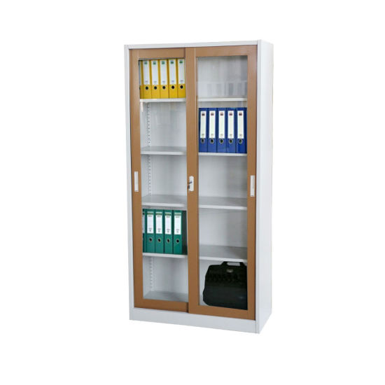 China Fas 018 Glass Door Office Steel Bookcase Cupboard Metal Filing