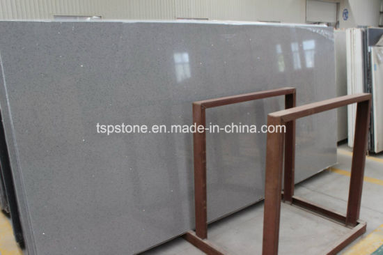 Dark Grey Artificial Quartz Stone For Countertops