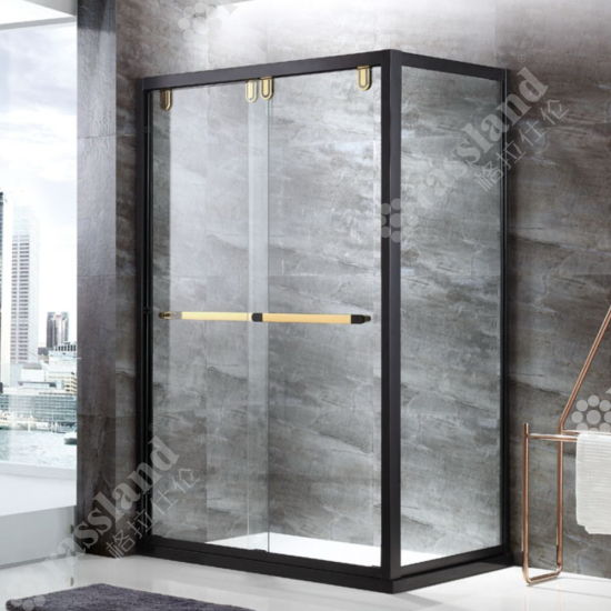 Stainless Steel Framed Simple Shower Enclosure with Tempered Glass pictures & photos