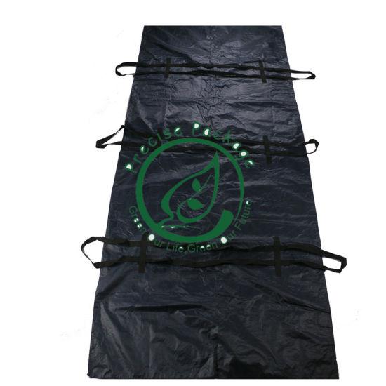 Black PP Cadaver Bag Extra Heavy Duty Body Bag for Dead