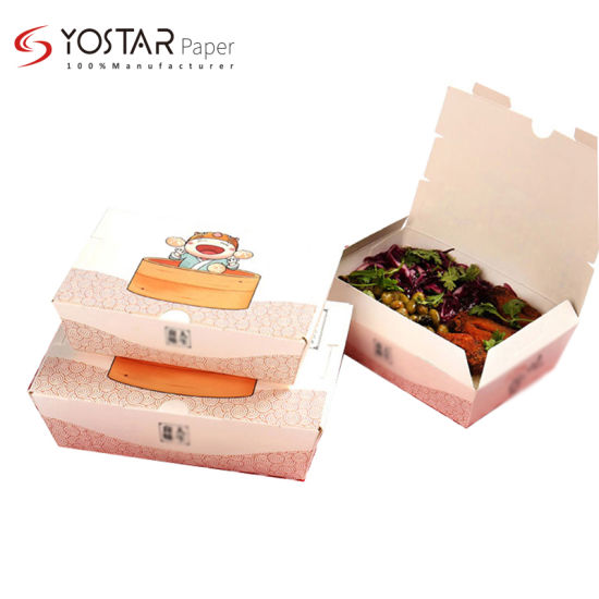 Manufactory Custom Take out Lunch Packaging Paper Box with Hotsale