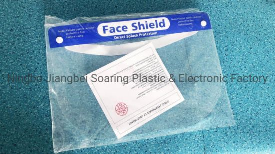 Fast Delivery Transparent Reusable Visor Plastic Safety Protection Face Sheilds