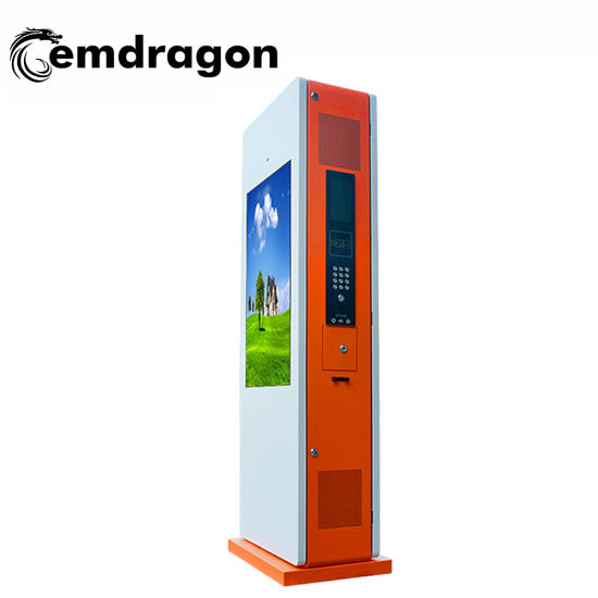 37 Inch Vertical Screen Landing Double Screen Gate Outdoor Advertising Machine Acrylic Standing Indoor LCD Totem Movie Theaters Advertising Player Touch Screen