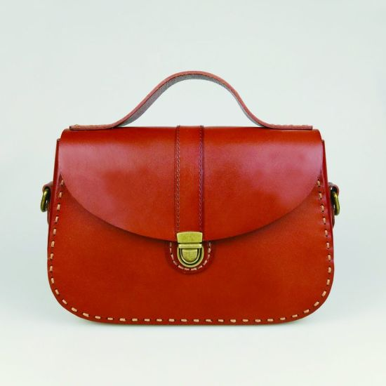 Lady Crossbody Bag Italian Vegetable Tanned Leather Hand Bag