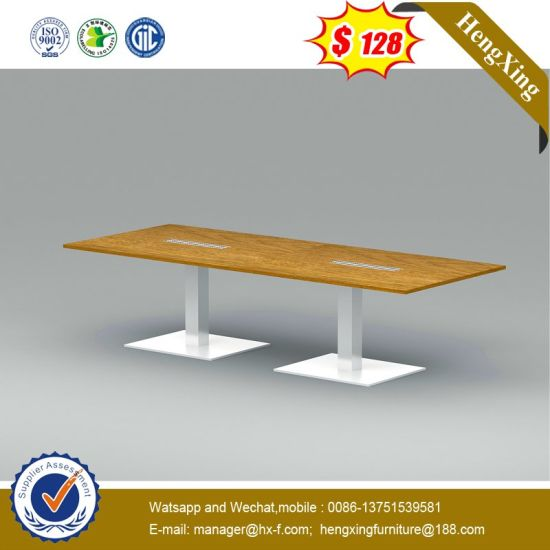 Fashion OEM Wooden Office Conference Table with Metal Leg pictures & photos