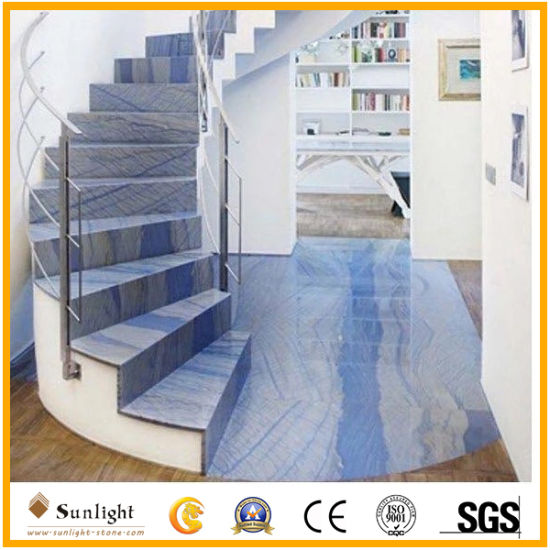 Marble Factory Popular Azul Macaubas Blue Luxury Natural Quartzite Stone Slabs pictures & photos