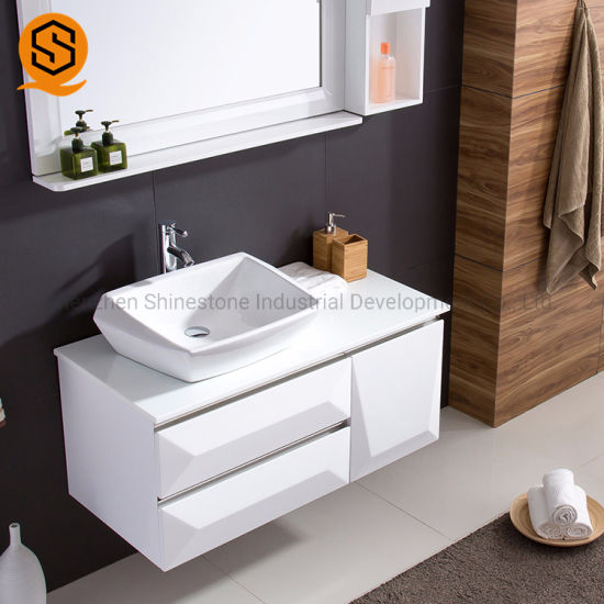 Commercial Bathroom Single Free Standing Marble Stone Vanity Top for Hotel