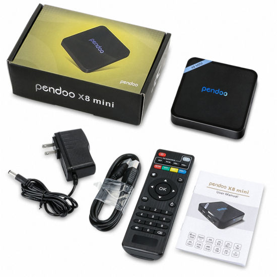 China Manufactures Android TV Box Pendoo X8 Mini Amlogic S905W Android 4K Smart TV Box