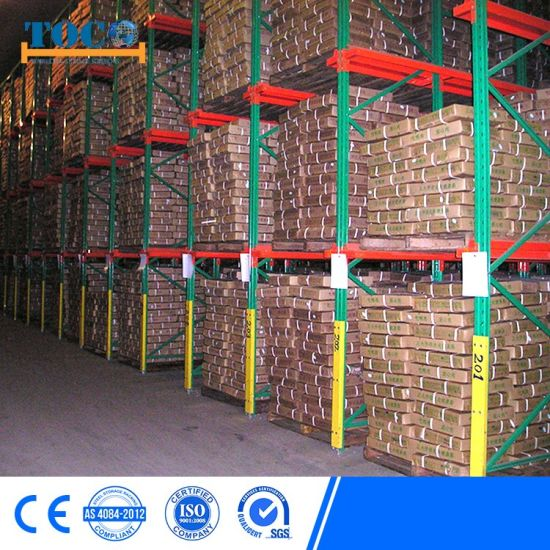 Nanjing Drive in Pallet Racks High Capacity Cold Rolled Steel Warehouse Storage Used