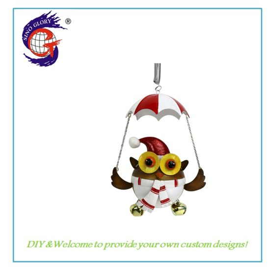 Beautiful Owl with Christmas Hat for Home Christmas Ornament