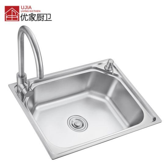 Best Selling Single Bowl Stainless Steel Press Sink Kitchen Ware Sink (6045D)