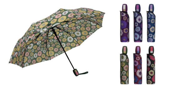 8b0a07a1a China 3 Fold Auto Open Flowers Printings Lady Fashion Rain Umbrella ...