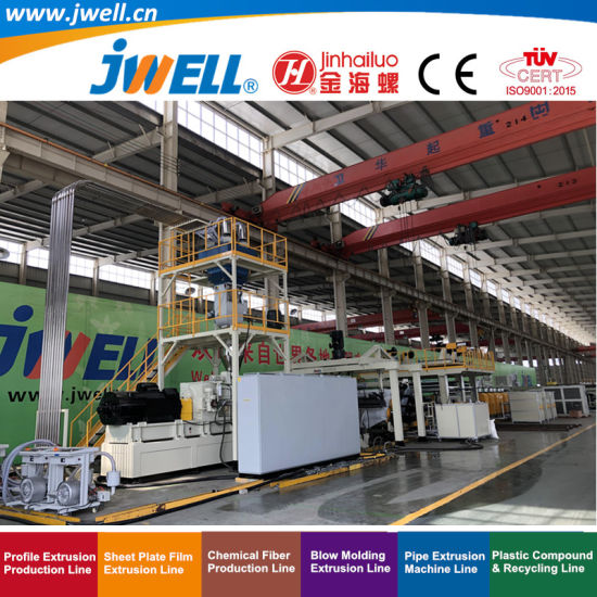 Jwell-135/48 Twin Screw High Speed Aluminium ACP Plastic Composite Panel Recycling Agricultural Making Extruder Machine for Construction Wall and Decoration