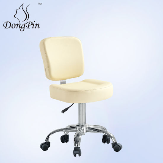 Beauty Hairdressing Chair Leather Master Round Chair