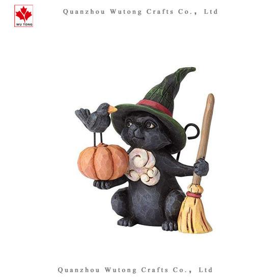 Custom Halloween Decoration Mini Witch Cat and Fox