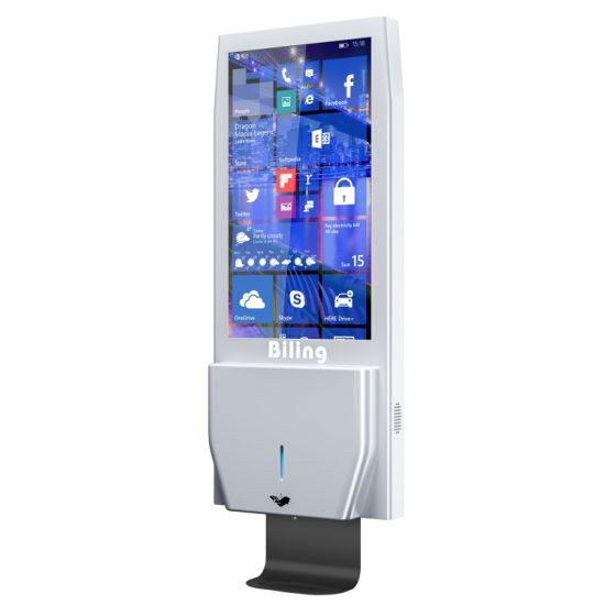 Wall Mounted Digital Signage Advrtising Screens with Auto Hand Sanitizer Dispenser pictures & photos