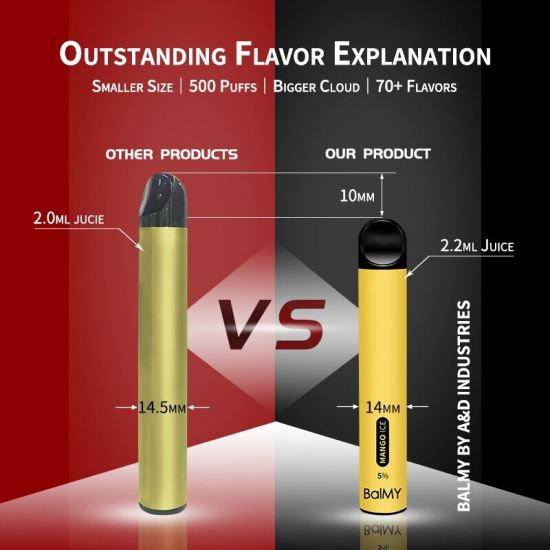 Hot Selling OEM Service 500puffs Disposable Vape Pod Kit with Great Humidity 5ml 400mAh