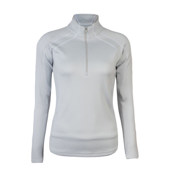 Women's Sports Clothes White Color Outwear Knitted Wholesale Sweatshirt