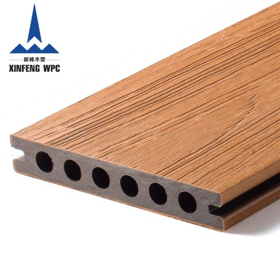 High Strength Wood Grain Co-Extrusion Wood Plastic Floor Decking WPC Flooring