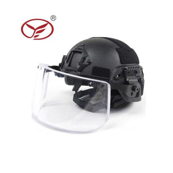 Black Nij Iiia 3A 0106.01 Mich Bulletproof Helmet with Visor