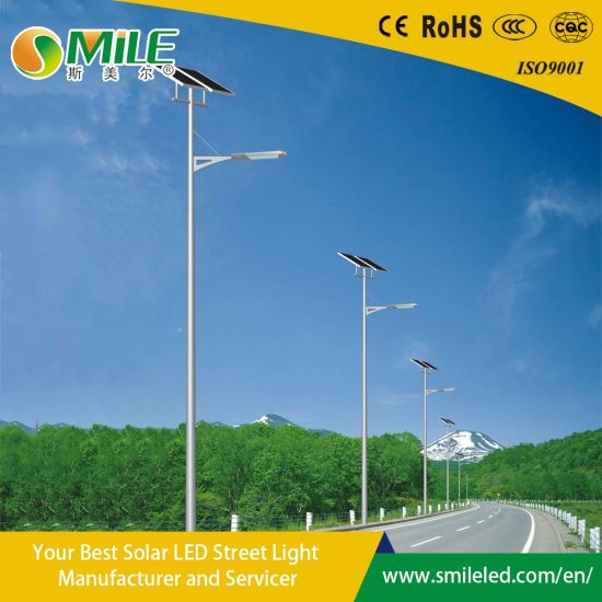 Wholesale Solar Panel Charge Lithium Battery Powered Intelligent LED Garden Street Light