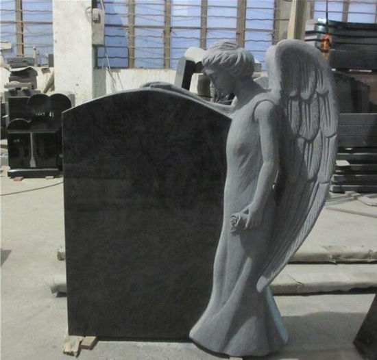 Natural Stone Black Granite Tombstone Monument SF-017 for Cremetery Garden pictures & photos