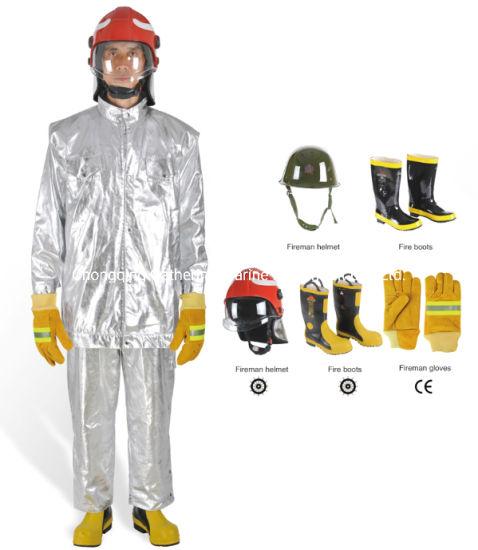 800-1300c Degree Aluminium Foil Fire Fight Heat Insulation Suit