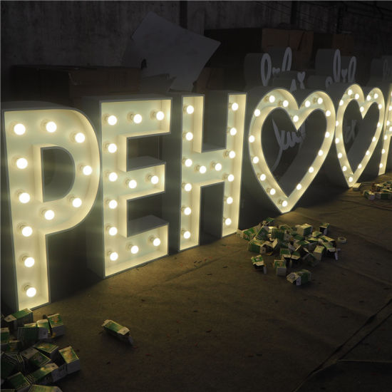 LED Bulb Marquee Letters Outdoor Large Light up Bulb Alphabet Letter pictures & photos
