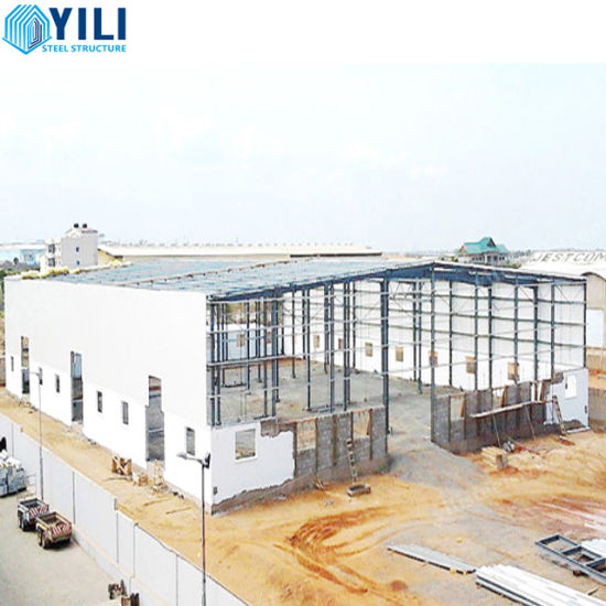 Industrial Long Span Galvanized Fabrication Construction Peb Steel Structure