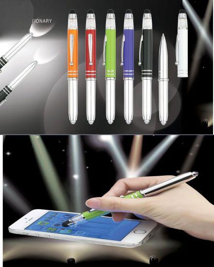 Wholesale Promotional Touch Screen Stylus Pen, LED Crystal Pen, Pen Light