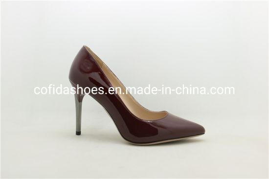 e991ae21d Trendy Printed Leather High Heels for Elegant Lady pictures & photos