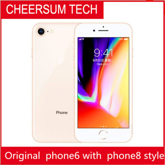 Without Fingerprint Original Screen Phone 6 in 8style Phone 4.7 5.5 Inch 16GB 64GB128GB Cellphone 6 Refurbished in Phone8housing 3PCS Freedhl