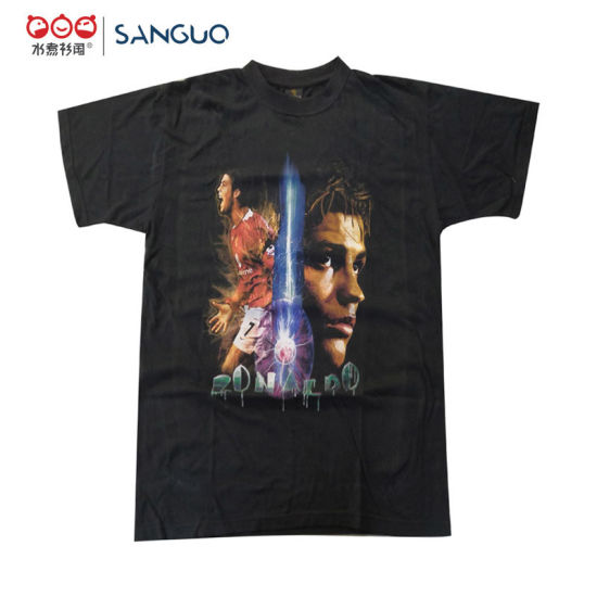 Wholesale Logo Customized Cotton T Shirts for Game Colorful